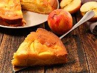 Лесен кекс с ябълки, канела и бакпулвер